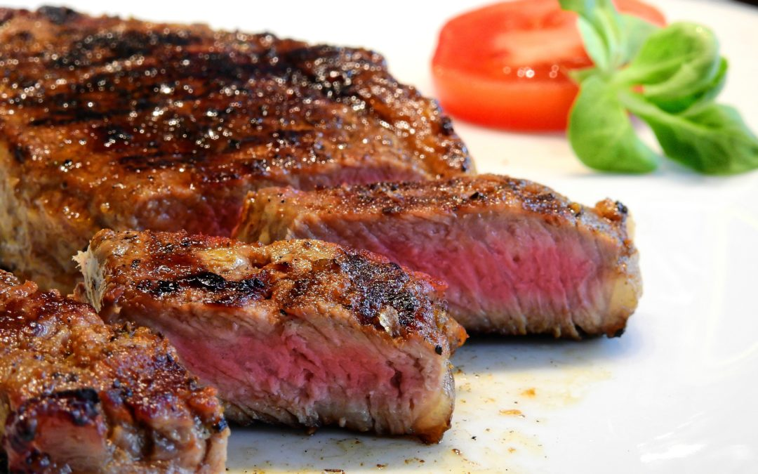 Pan seared butter-basted steak